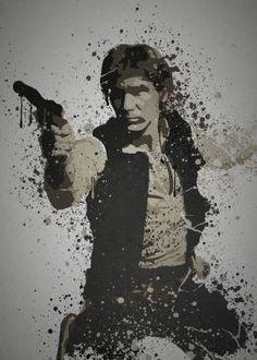 prints on steel Movies & TV star wars han solo leia luke skywalker empire strikes back return of the jedi with harrison ford