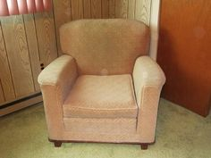 Vintage 38 inch Fabric Arm Chair - $25 (Carteret)