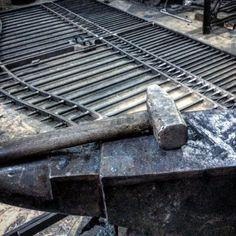 Busy workshop! #anvil #blacksmith #hammer #gate #workshop...