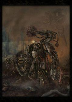an iron warrior terminator from warhammer done with ps + tablet Warhammer 40k Rpg, Warhammer Models, Warhammer Fantasy, Cyberpunk, Gundam Wallpapers, Deathwatch, The Grim, Space Marine, Sci Fi Fantasy