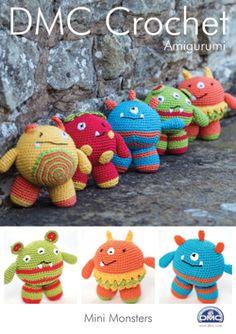 DMC Amigurumi MINI MONSTERS Crochet Pattern 15049L/2