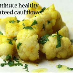5-Minute Healthy Sauteed Cauliflower With Turmeric | MyRecipes.com