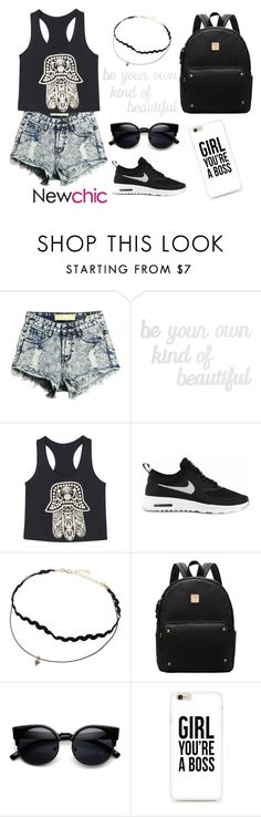 """contest newchic"" by helmaa ❤ liked on Polyvore featuring PBteen, NIKE, chic and newchic"