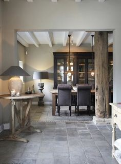 Lovely Belgium style interior