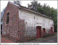 A 1765 Horse Stable and Cow Barn on the grounds of the historic Dr. Upton Scott house in Annapolis Maryland. Photograph published on September 8th 2014. To see a full size version of this photograph and the Annapolis Experience Blog article click on the Visit Site button. Image and article Copyright © 2014 G J Gibson Photography LLC.