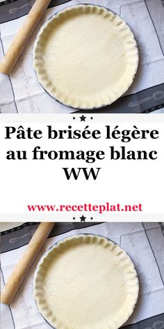 Light shortcrust pastry with fromage blanc Best Pastry Recipe, Pastry Recipes, Ww Recipes, Light Recipes, Sweet Recipes, Ww Desserts, Diabetic Desserts, Dessert Recipes, Dessert Ww