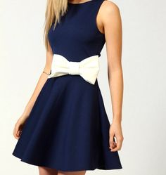 Navy blue with a bow and a little class
