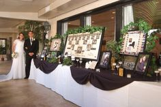 Photo Family Tree - cool idea for a display at a wedding that highlights you…