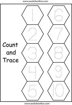 Number Tracing – – One Worksheet / FREE Printable Worksheets Counting Worksheets For Kindergarten, Numbers Kindergarten, Preschool Writing, Numbers Preschool, Tracing Worksheets, Free Printable Worksheets, Preschool Printables, Worksheets For Kids, Addition Worksheets