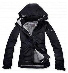 Fashion black Women' Outdoor 2in1 Climbing Ski Fleece Hiking Hood Jacket Coat