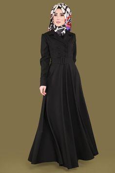 ** YENİ ÜRÜN ** Ceket Yaka Tesettür Elbise Siyah Ürün kodu: BRN81501 --> 149.90 TL