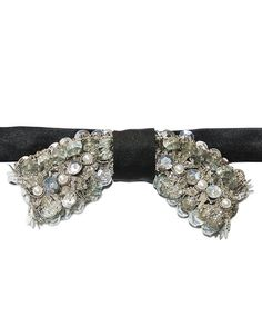 Papillon Italian-Female-100% Handmade Silver Beads Sequins-Made in Italy-Bowtie