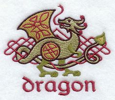 Celtic Dragon design (D8465) from www.Emblibrary.com