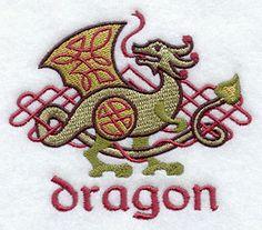 Celtic Dragon design (D8465) from www.Emblibrary.com