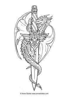 Adult Coloring Pages, Coloring Sheets, Coloring Books, Dragon Coloring Page, Dragon Sketch, Drawing Sketches, Drawings, Black And White Sketches, Colorful Pictures
