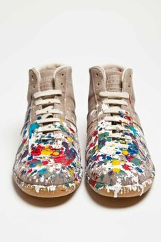 Maison Martin Margiela - Replica Leather Sneaker Mid Paint