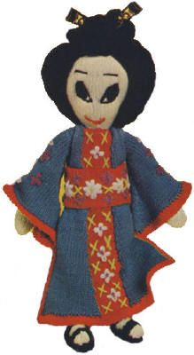 17 inch Geisha Doll Vintage Knitting Pattern to download