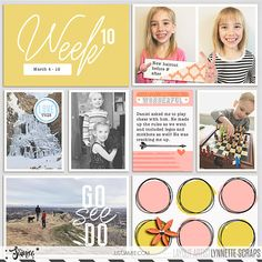 digital scrapbook project life layout created with Storyteller 2018 April - The Collection by Just Jaimee