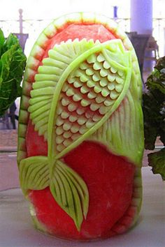 Amazing watermelon art