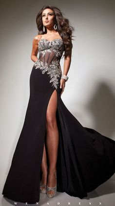 prom dress prom dresses | My fashion | Pinterest | Sexy, Split ...