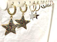 sale of earrings uk Star Earrings, Circle Earrings, Sterling Silver Earrings, Gold Earrings, Drop Earrings, Diamond Earing, Silver Prices, Silver Stars, Celestial