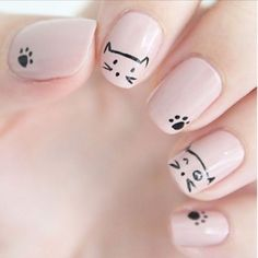 Nail Art: 14 diseños PURRFECTOS para lucir gatos en tus uñas - TKM Chile