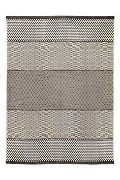 Tapis à motif en coton - Écru/gris anthracite - HOME | H&M BE
