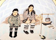 Cape Dorset artist Kananginak Pootoogook's work will be featured in the International Art Exhibition of La Biennale di Venezia in Venice, Italy. Ten of the artist's ink and coloured pencil prints will be part of the central exhibition for the Biennale. Inuit Kunst, Inuit Art, Venice Biennale, Expositions, Canadian Artists, Gallery, Collection, Portal, Pencil