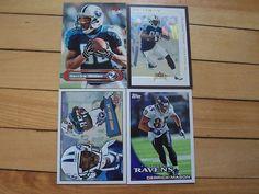 DERRICK MASON (4) Card Lot Tennessee Titans Baltimore Ravens Wide Receiver Mint