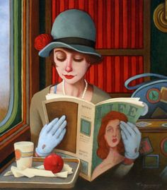 Very chic reader (Fred Calleri illustration)