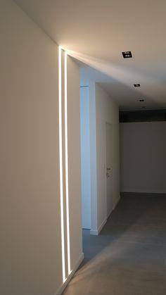 Home Building Design, Home Room Design, Home Interior Design, Interior Decorating, Ceiling Light Design, Modern Lighting Design, Contemporary Interior Design, Corridor Lighting, Strip Lighting