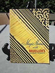 Vintage-Antique-Paperback-034-Mueller-039-s-Macaroni-Products-Cookbook-Cook-Book-1937