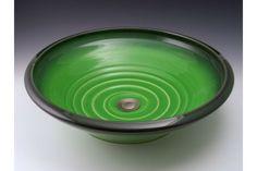 Indikoi SOH605 Soho 17 Inch Avocado Porcelain Low Round Vessel Mount Sink