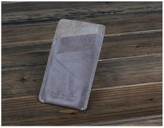leather case for iphone 5 with card slot money by ZuziDesign, $9.99