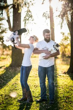 Photography by Brittany, Sunset Engagement or Family Photography, Decorah Iowa, White shirts and jeans, Pet Photography Inspiration, Pink tutu