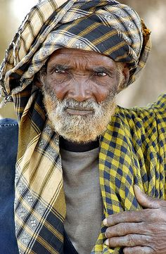 Elderly Man in Ethiopia Shinile Zone