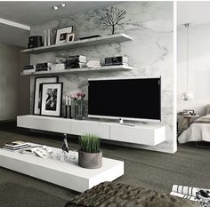 Interior design ideas for a luxury living room decor. On this living room you can see extraordinary furniture design pieces. Living Room Modern, Home Living Room, Apartment Living, Living Room Designs, Living Room Decor, Living Spaces, Bedroom Decor, Modern Bedrooms, Small Living