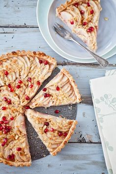 Nectarines and Pomegranate Tarte