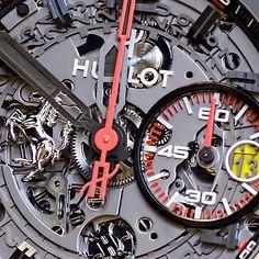 Get inside the Hublot Big Bang Ferrari. #limitededition #closeup #Ferrari #bigbang #HublotBigBang #Hublot #instawatches #watchstyle #watchesofinstagram #mensstyle #watchcollector #Osterjewelers
