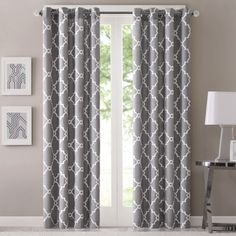 Shop for Aurora Home Moroccan Tile 108 Inch Room Darkening Curtain Panel Pair - 52 X Get free delivery On EVERYTHING* Overstock - Your Online Home Decor Outlet Store! Get in rewards with Club O! Printed Curtains, Grommet Curtains, Drapes Curtains, Patterned Curtains, Geometric Curtains, Moroccan Curtains, Curtains Living, Blackout Curtains, Curtain Patterns
