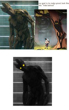 The Hide Behind from Gravity Falls and The Beast from Over the Garden Wall look suspiciously similar...