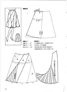 Sewing Lessons, Sewing Hacks, Sewing Tutorials, Sewing Crafts, Sewing Projects, Dress Making Patterns, Skirt Patterns Sewing, Clothing Patterns, Japanese Sewing Patterns