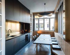 Gcg Architectes séjour appartement parisien de 145m2 gcg architectes neuilly sur