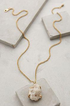 DRUZY DREAMWORLD PENDANT NECKLACE #anthrofave #necklaces #jewelry