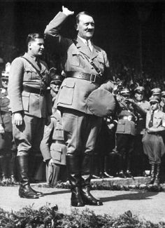 Baldur von Schirach and Adolf Hitler.