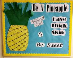 Ananas - Back To School Interactive Bulletin Boards, Teacher Bulletin Boards, Back To School Bulletin Boards, Character Bulletin Boards, Herbalife, Kids Nutrition, Nutrition Month, Sports Nutrition, Nutrition Education