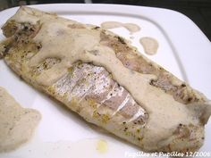 Filets de bar sauce vanillée