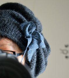 crea-16 0274 Beret, Knitting Yarn, Headbands, Knitted Hats, Knit Crochet, Winter Hats, Sewing, Bonnets, Yarns