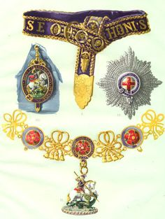 The insignia of the Order have developed over the centuries, starting with  a garter and 549a0b74a94
