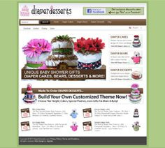eCommerce SEO Website Design at http://www.DiaperDesserts.com